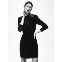 Reserved Welurowa sukienka mini XO319-99X