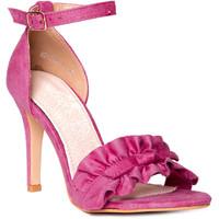 Quiosque Różowe zamszowe sandały 5HD953547