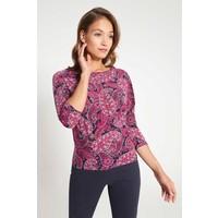 Quiosque Różowa bluzka z ozdobnymi paskami na karku 1IU013554