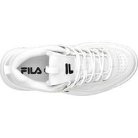 białe sneakersy damskie Fila na masywnej podeszwie i