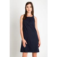 Quiosque Granatowa sukienka z marszczonym dekoltem 4DC530802