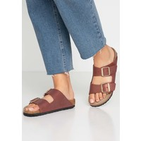 Birkenstock ARIZONA Klapki washed metallic port BI111A092