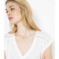 Camaieu T-shirt z ażurowymi detalami 528506_0480E19/0480/CLACKY