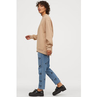 H&M Bluza oversize 0817392002 Beżowy