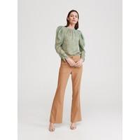 Reserved Spodnie z rozszerzaną nogawką YT627-80X