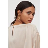 H&M Bluzka z kimonowym rękawem 0817150002 Jasnobeżowy