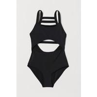 H&M Kostium kąpielowy z wycięciem 0715546002 Czarny