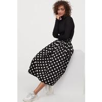H&M Rozszerzana spódnica 0851090001 Czarny/Białe kropki