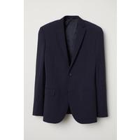 H&M Marynarka z wełną Regular fit 0645610001 Ciemnoniebieski