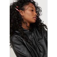 H&M Koszula z imitacji skóry 0803662001 Czarny