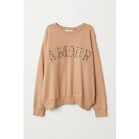 H&M Bluza 0651334006 Beżowy/Amour