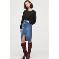 H&M Dżinsowa spódnica do kolan 0707569003 Niebieski