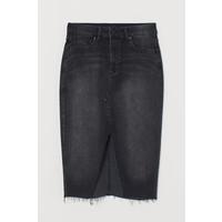 H&M Dżinsowa spódnica do kolan 0707569003 Czarny/Sprany