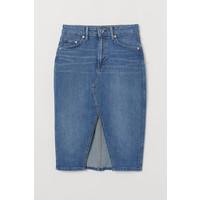 H&M Dżinsowa spódnica do kolan 0707569003 Niebieski denim