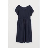 H&M MAMA Sukienka z bawełną 0782859001 Ciemnoniebieski