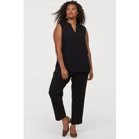 H&M H&M+ Bluzka z dekoltem w serek 0784192001 Czarny
