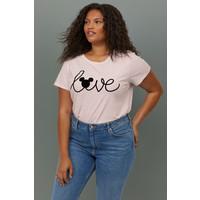 H&M H&M+ T-shirt z nadrukiem 0767485035 Różowy melanż/Myszka Miki