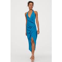 H&M Sukienka z mocowaniem na karku 0810675003 Turkusowy