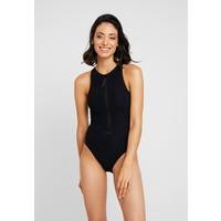 Calvin Klein Swimwear SIGNATURE-S HIGH NECK ONE PIECE Kostium kąpielowy pvh black C1781G00K