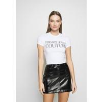 Versace Jeans Couture LADY T-shirt z nadrukiem white/gold VEI21D00G