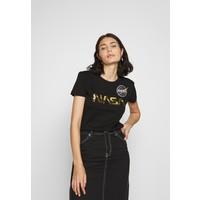 Alpha Industries NASA T-shirt z nadrukiem black/gold AL521D005