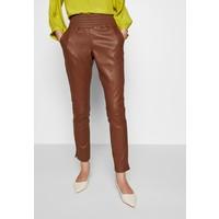 Ibana COLETTE Spodnie skórzane brown 21B21A00U