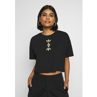 adidas Originals LOGO TEE T-shirt z nadrukiem black/gold AD121D0OR