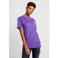 Merchcode LADIES NEVER ON TIME TEE T-shirt z nadrukiem ultra violet MEJ21D02F
