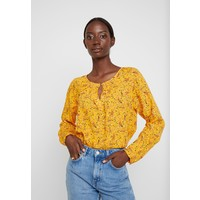 TOM TAILOR BLOUSE WITH STRUCTURE Bluzka yellow TO221E0P8
