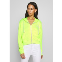 Missguided ZIP FRONT CORAL HOODIE Bluza rozpinana neon yellow M0Q21J03V
