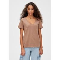 PULL&BEAR MIT V-AUSSCHNITT T-shirt z nadrukiem brown PUC21D0YQ