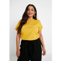 Cotton On Curve GRAPHIC TEES T-shirt z nadrukiem pollen yellow C1V21D001