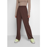 Monki SAMI TROUSERS Spodnie materiałowe brown MOQ21A02Z
