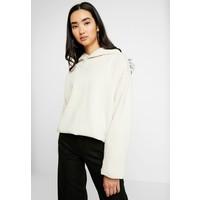Weekday BLAZE HOODIE Bluza z kapturem beige WEB21J01X