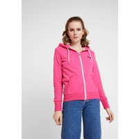 Superdry LABEL LITE ZIPHOOD Bluza rozpinana ruby pink SU221J16G