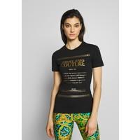 Versace Jeans Couture T-shirt z nadrukiem black/gold VEI21D00I