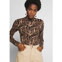 Gina Tricot DORSIA TURTLENECK Bluzka z długim rękawem brown/black GID21D01X