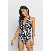 MICHAEL Michael Kors ANIMAL BLEND HALTER ONE PIECE Kostium kąpielowy black multi MK181G00R