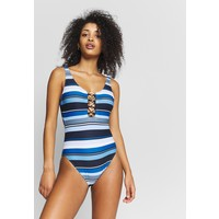 MICHAEL Michael Kors LARGE STRIPE ONE PIECE Kostium kąpielowy navy multi MK181G00P