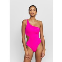 Seafolly ACTIVE ONE SHOULDER MAILLOT Kostium kąpielowy ultra pink S1981G01H