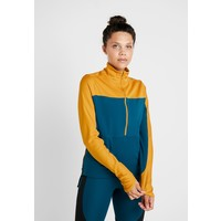 Nike Performance REPEL TOP MIDLAYER Bluza z polaru gold/midnight turquoise/reflective silver N1241D10L