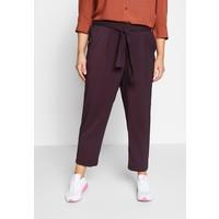 Evans PLUM TIE FRONT TAPERED TROUSER Spodnie materiałowe purple EW221A06N