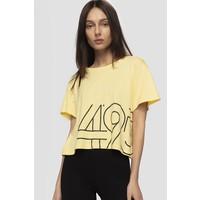 4F T-shirt damski TSD266 - jasny żółty D4L19-TSD266-73S
