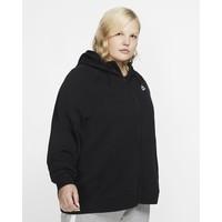 Nike Sportswear Essential (duże rozmiary) Damska rozpinana bluza z kapturem CJ0401