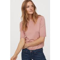 H&M Cienki sweter 0678942031 Pudroworóżowy