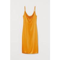 H&M Sukienka na ramiączkach 0750260001 Żółty