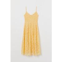 H&M Koronkowa sukienka 0608007017 Żółty