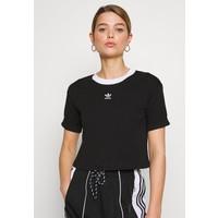 adidas Originals CROP TOP T-shirt z nadrukiem black/white AD121D0OS
