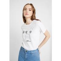 Even&Odd T-shirt z nadrukiem white EV421D1CK