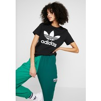 adidas Originals TREFOIL TEE T-shirt z nadrukiem black/white AD121D0OM